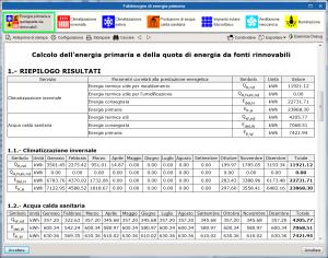 CYPETHERM C.E. Relazione energia primaria e quota da rinnovabili